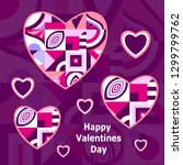 happy valentines  day. greeting ... | Shutterstock .eps vector #1299799762