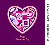 happy valentines  day. greeting ... | Shutterstock .eps vector #1299799765