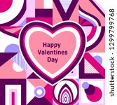 happy valentines  day. greeting ... | Shutterstock .eps vector #1299799768