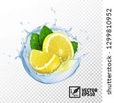 3d realistic isolated vector... | Shutterstock .eps vector #1299810952
