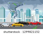 vector illustration of swirling ... | Shutterstock .eps vector #1299821152