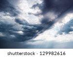 Background Dramatic Dark Sky...