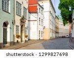 riga  latvia. cobbled old...   Shutterstock . vector #1299827698
