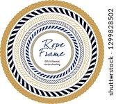 rope frame . seamless pattern... | Shutterstock .eps vector #1299828502