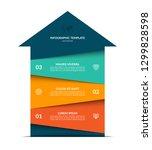 upward arrow infographic... | Shutterstock .eps vector #1299828598