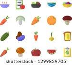 color flat icon set colander... | Shutterstock .eps vector #1299829705