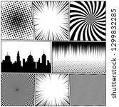 comic book monochrome template... | Shutterstock .eps vector #1299832285