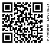 sample qr code icon vector... | Shutterstock .eps vector #1299840115