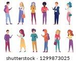 vector illustration of fashion... | Shutterstock .eps vector #1299873025