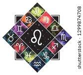 leo zodiac sign astrology... | Shutterstock .eps vector #1299874708