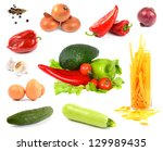 collection vegetables isolated... | Shutterstock . vector #129989435