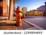 Fire Hydrant On Sidewalk Of...