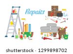 set of tools for repairs.... | Shutterstock .eps vector #1299898702