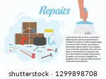 set of tools for repairs.... | Shutterstock .eps vector #1299898708