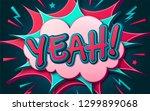 comic poster  speech bubble ... | Shutterstock .eps vector #1299899068