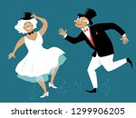 senior couple dressed in retro... | Shutterstock .eps vector #1299906205