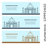 set of banners template with... | Shutterstock .eps vector #1299914632