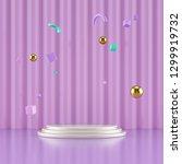 minimalistic showcase with... | Shutterstock . vector #1299919732