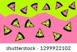 fast food pizza in zine culture ...   Shutterstock .eps vector #1299922102