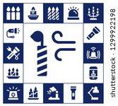 illuminate icon set. 17 filled ... | Shutterstock .eps vector #1299922198