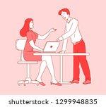 modern cartoon flat people... | Shutterstock .eps vector #1299948835