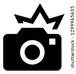 camera flash vector icon | Shutterstock .eps vector #1299965635