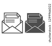 envelope and letter line and... | Shutterstock .eps vector #1299966022
