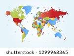 color world map vector | Shutterstock .eps vector #1299968365