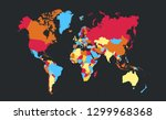 color world map vector | Shutterstock .eps vector #1299968368