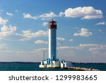 the vorontsov lighthouse is a... | Shutterstock . vector #1299983665