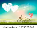 valentine's day background with ... | Shutterstock .eps vector #1299985048