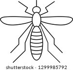 mosquito outline icon vector... | Shutterstock .eps vector #1299985792