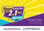 sale banner template design ... | Shutterstock .eps vector #1299986002