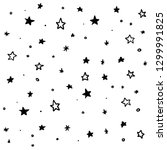 Modern Geometric Star Pattern. Vector Star Pattern Background Drawn by Hand - Vector