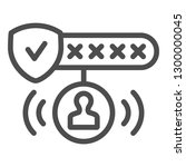password protected line icon.... | Shutterstock .eps vector #1300000045