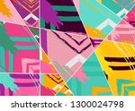 abstract collage asymmetric... | Shutterstock .eps vector #1300024798