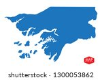 high detailed blue vector map ... | Shutterstock .eps vector #1300053862