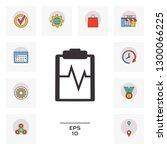electrocardiogram symbol icon.... | Shutterstock .eps vector #1300066225