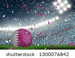 crowed of fan in football... | Shutterstock .eps vector #1300076842