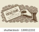 vintage frame background with... | Shutterstock . vector #130012232