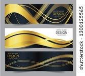 abstract banner gold web header ... | Shutterstock .eps vector #1300125565