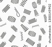 metal spring seamless pattern... | Shutterstock .eps vector #1300145902