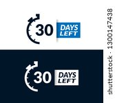 30 days left sign   emblem ... | Shutterstock .eps vector #1300147438