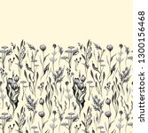 vector seamless floral border.... | Shutterstock .eps vector #1300156468
