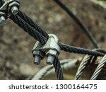 steel turnbuckle and steel ... | Shutterstock . vector #1300164475