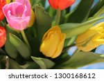 multicolored  bright bouquet of ... | Shutterstock . vector #1300168612