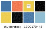 set of abstract square... | Shutterstock .eps vector #1300170448