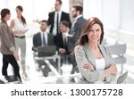 portrait of confident business... | Shutterstock . vector #1300175728
