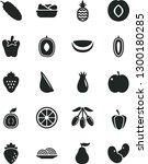 solid black vector icon set  ... | Shutterstock .eps vector #1300180285