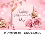 happy valentine's day template... | Shutterstock .eps vector #1300182502